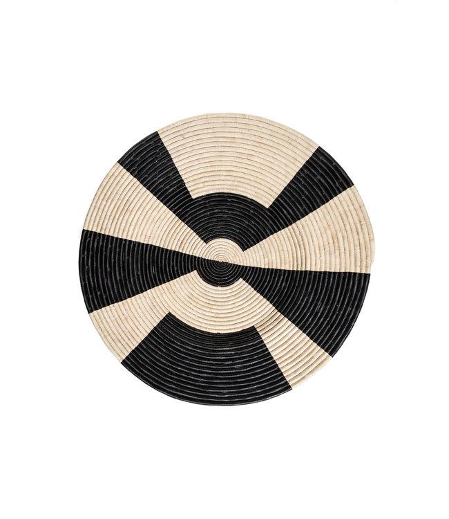Jumbo Mafasi black woven wall art plate