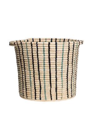 Cool striped raffia floor storage basket