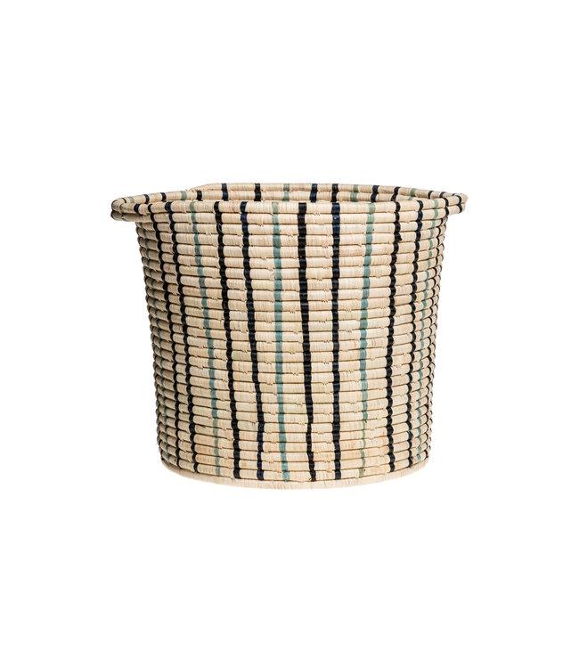 Cool striped raffia opbergmand