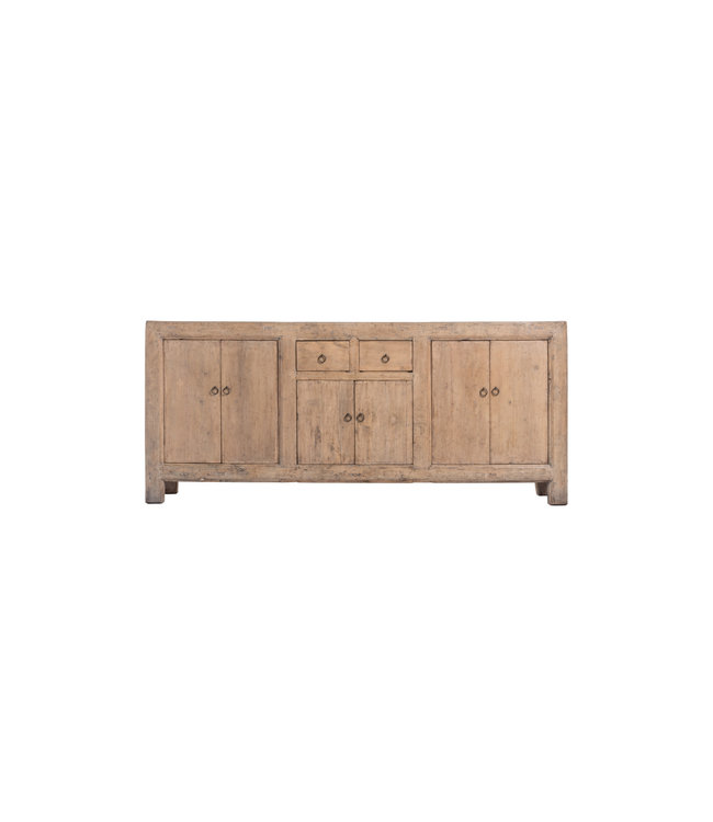 Sideboard elm with 6 doors and 2 drawers