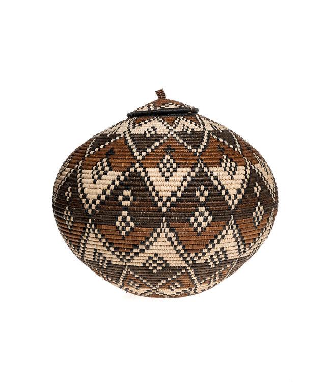 Zulu Ukhamba gourd basket master weaver #21
