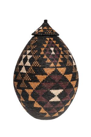 Zulu Ukhamba gourd basket master weaver #22