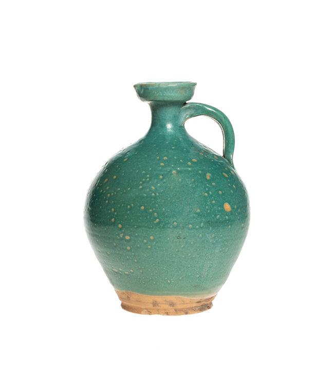 Hoge turquoise gember pot - °1900