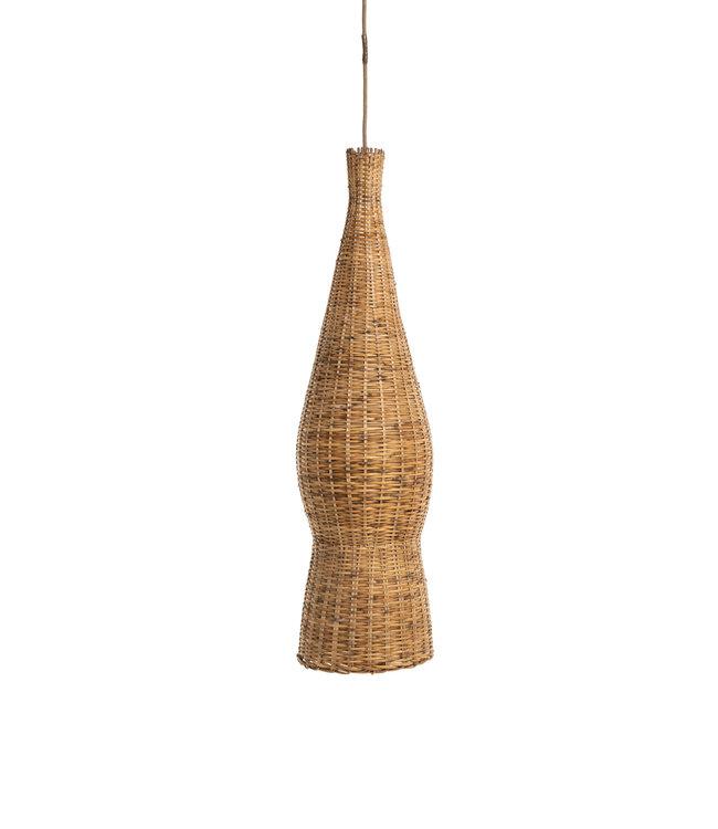 Bamboe visfuik lamp - °1970