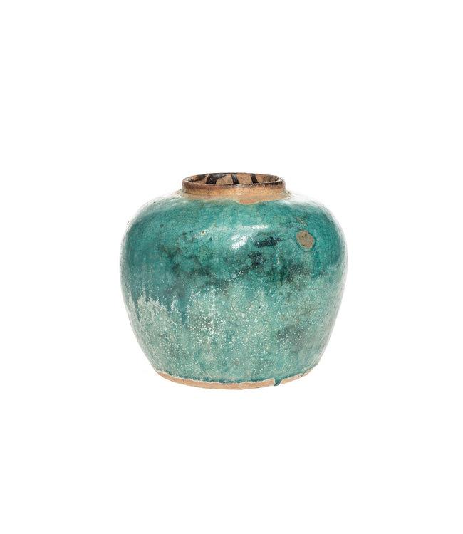 Turquoise/ groene vaas M - °1950