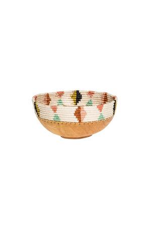 Medium desert flower wooden bowl