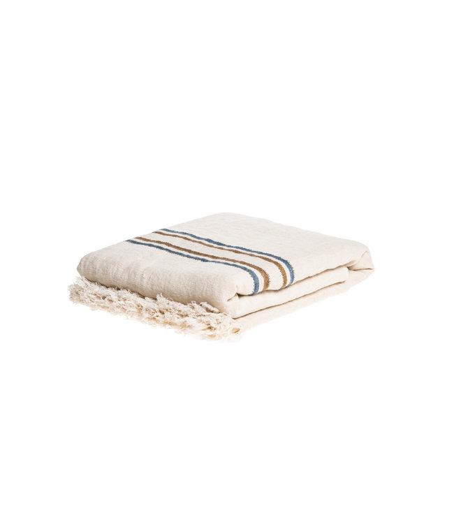 Libeco Auburn  sierdeken - stripe