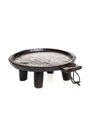 Round Ethiopian coffee tray