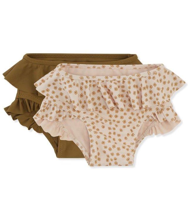 Konges Sløjd 2 Pack bikini pants - buttercup yellow/breen