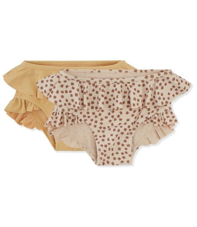 2 Pack bikinibroekjes - buttercup rose/orange sorbet