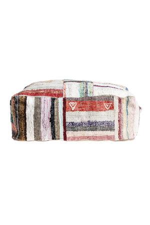 Colorful pouf kilim #4