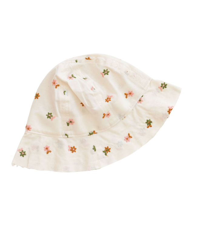 Bucket hat - embroidered floral