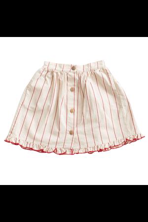 Fin & Vince Midi skirt - red stripe