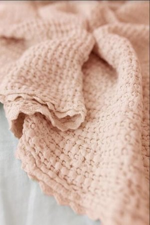 Fin & Vince Cozy waffle baby blanket - peach