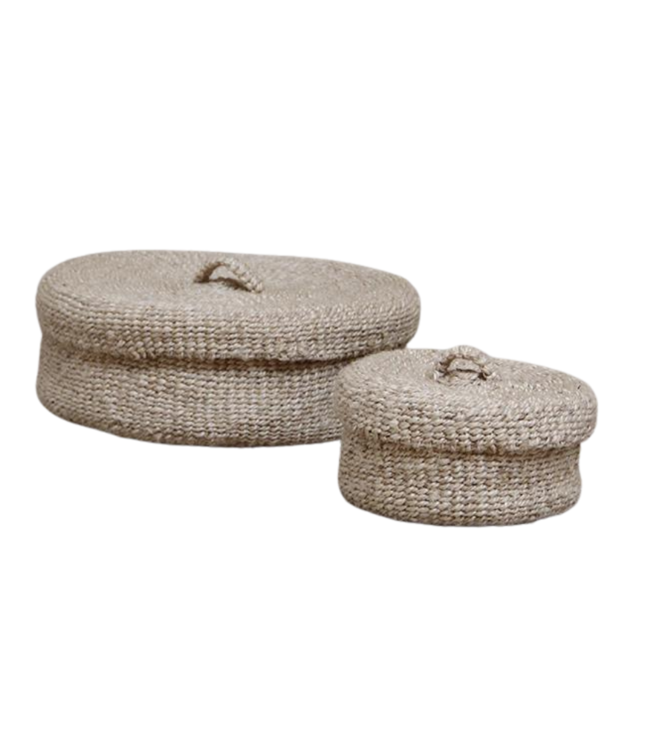 Sona round basket with lid