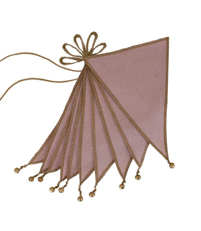 Bunting garland one size - dusty pink