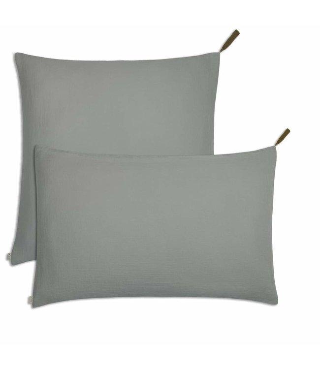 Pillow case - silver grey