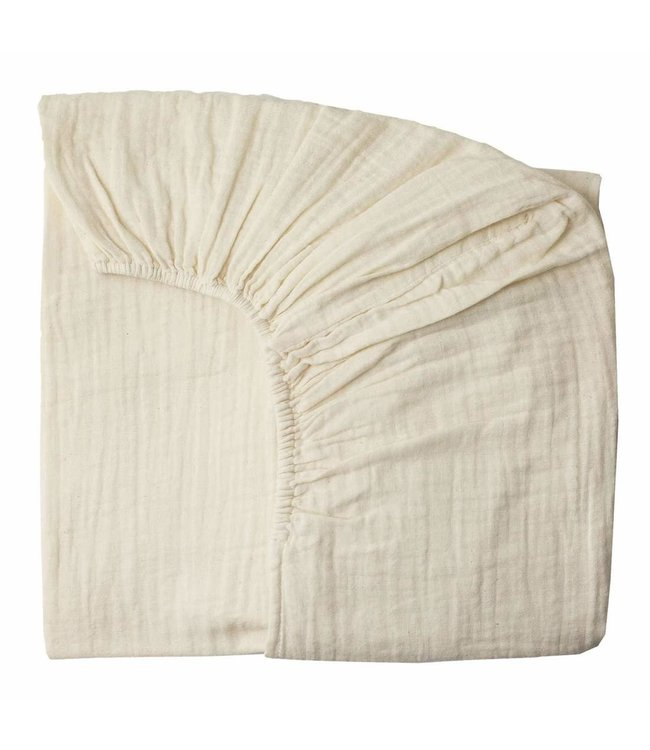Fitted bed sheet - natural