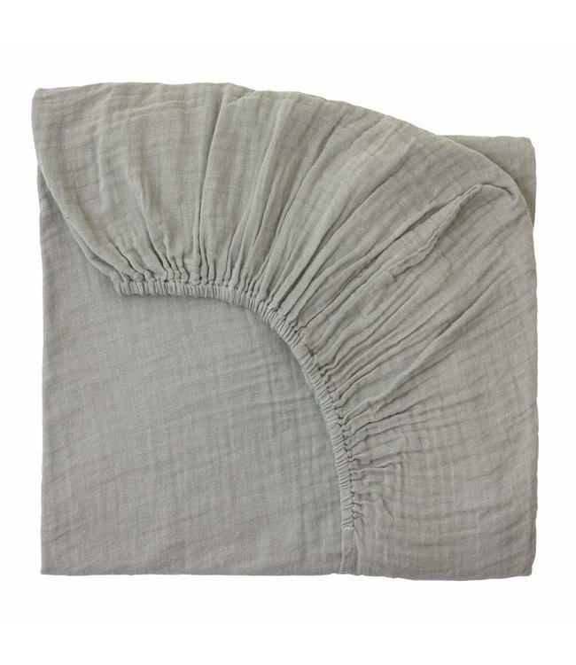 Fitted bed sheet - silver grey