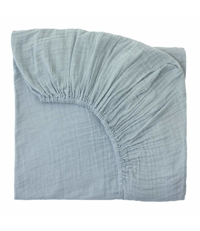 Fitted bed sheet - sweet blue