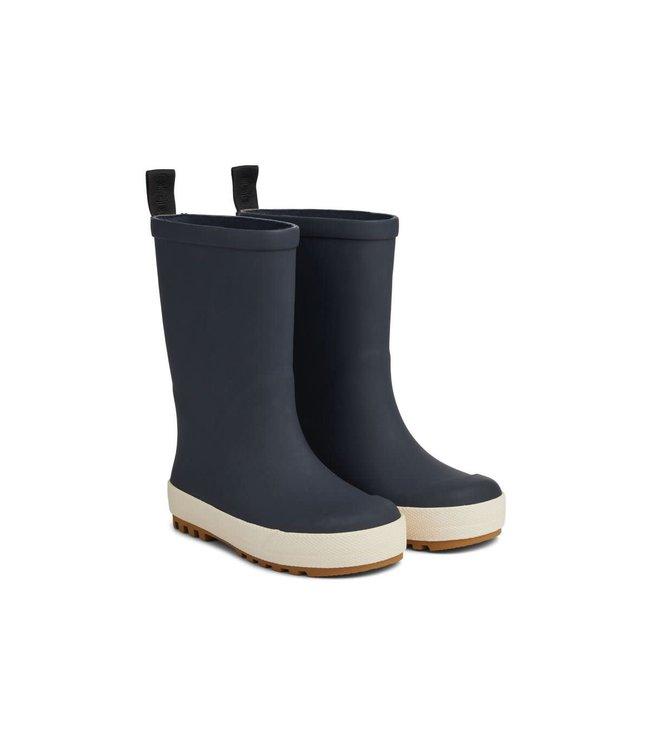 River rain boot - navy/creme de la creme mix