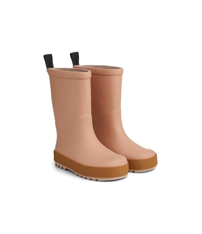 River rain boot - dark rose/mustard mix