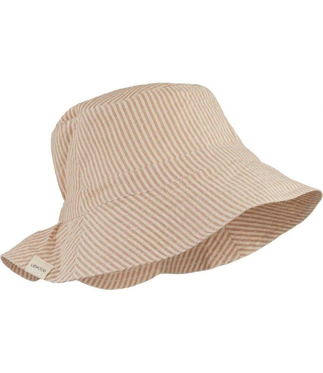 Liewood Sander bucket hat - stripe tuscany rose/sandy