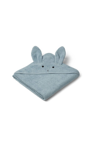 Liewood Augusta hooded towel - rabbit sea blue