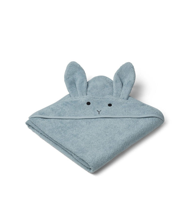 Liewood Augusta hooded towel - rabbit sea blue