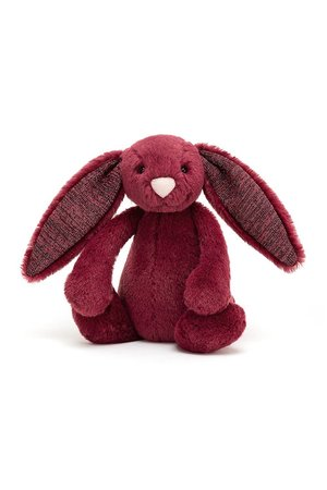 Jellycat Limited Bashful sparkly cassis bunny