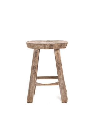 Elm wood antique stool round #26