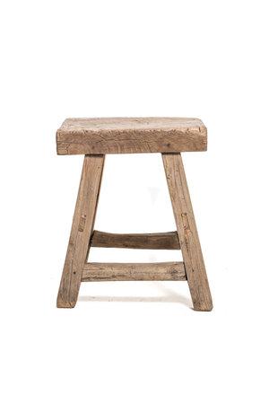 Old rectangular side table elm wood #13