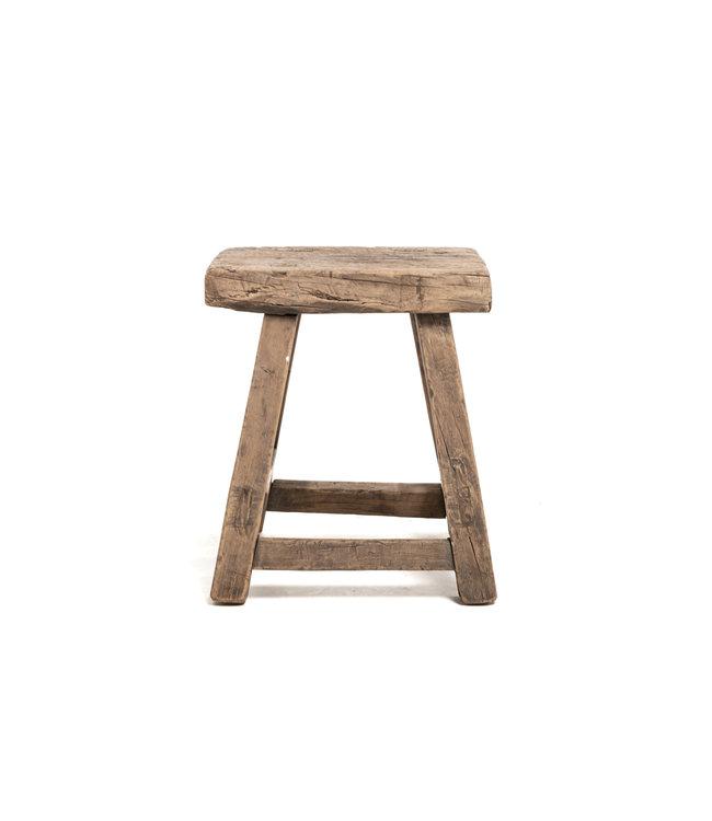 Old rectangular side table elm wood #10