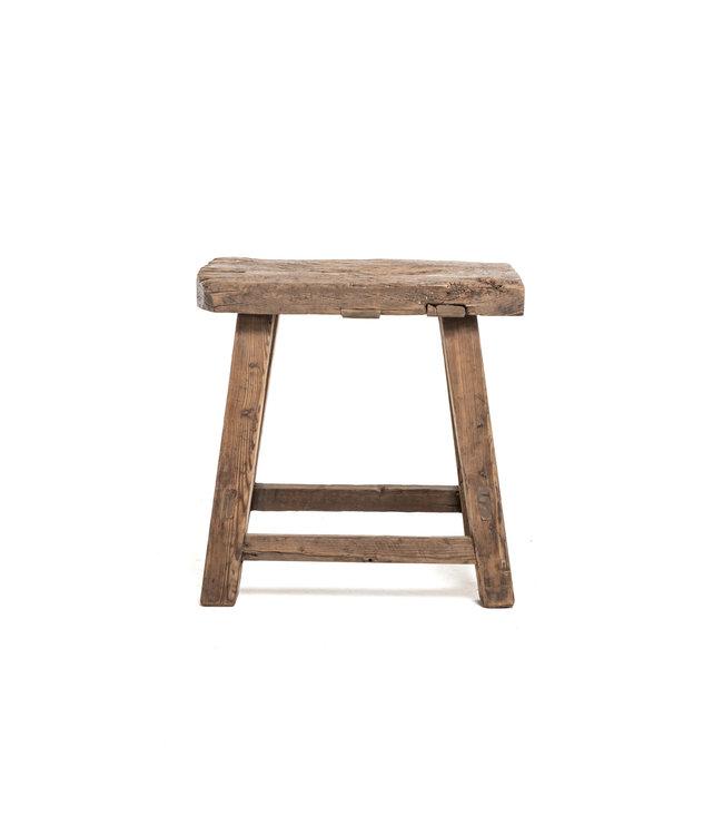Old rectangular side table elm wood #9