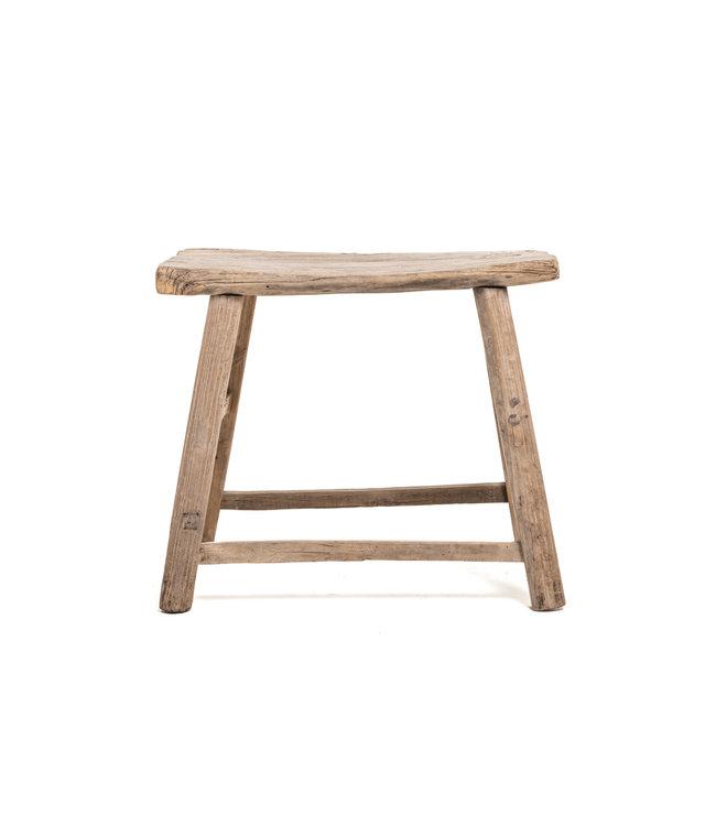 Old rectangular side table elm wood #2