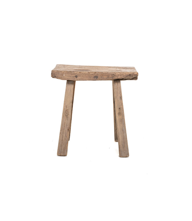 Old rectangular side table elm wood #8