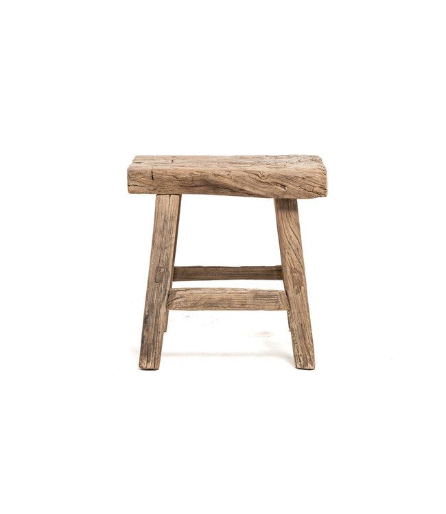 Old rectangular side table elm wood #7