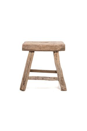 Old rectangular side table elm wood #6