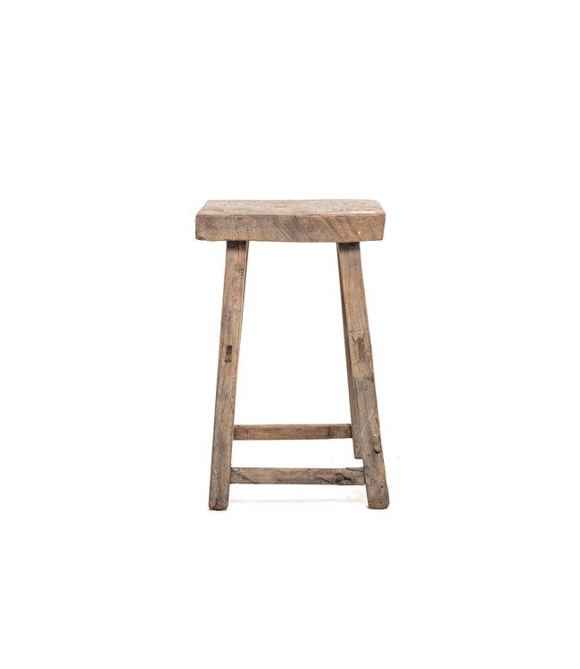 Old rectangular side table elm wood #5