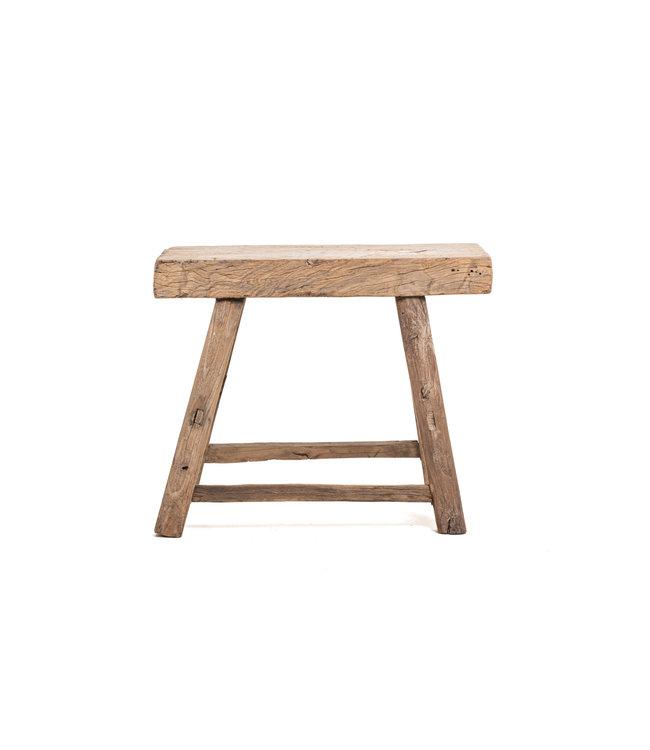Old rectangular side table elm wood #1