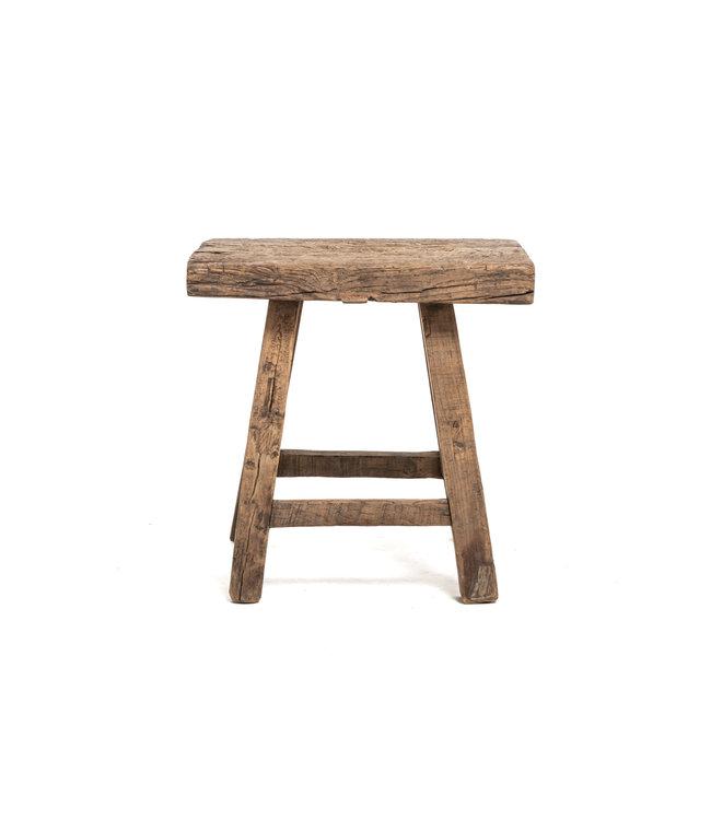 Old rectangular side table elm wood #12