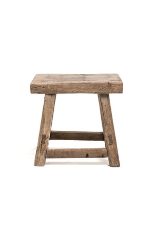 Old rectangular side table elm wood #14