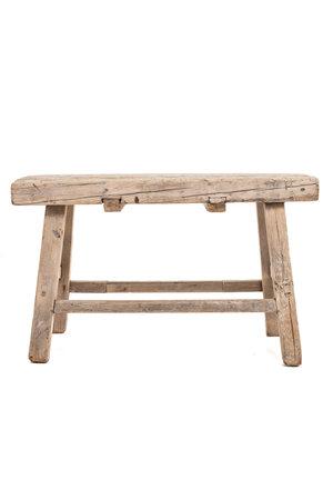 Old rectangular side table elm wood #3