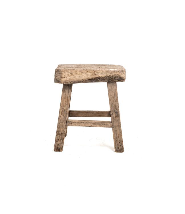 Old square side table elm #1