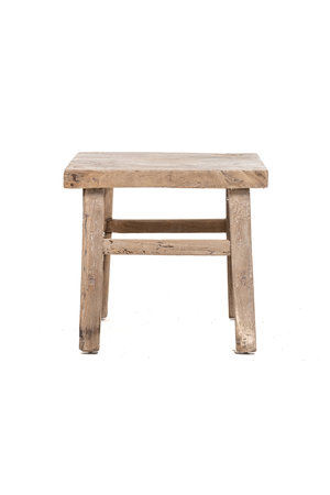 Old square side table elm wood #4