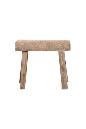 Old stool weathered elm wood #51