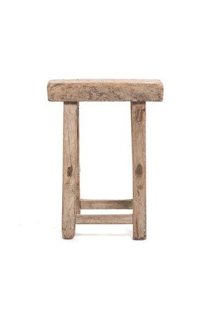 Old stool weathered elm wood #52