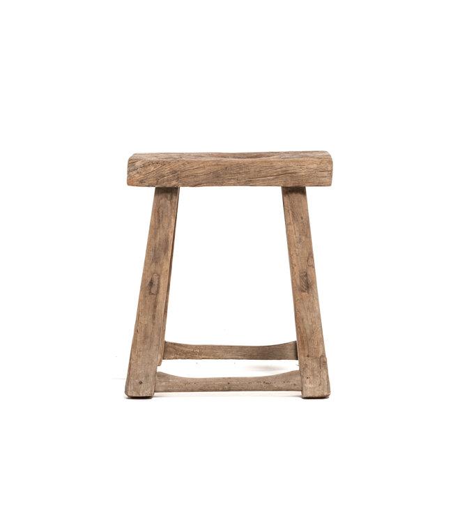 Old stool weathered elm wood #53