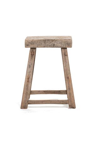 Old stool weathered elm wood #54