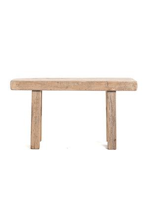 Short bench elm wood #17 - L90cm